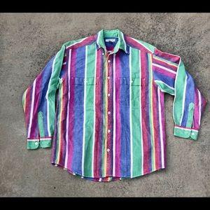 🔥🔥 Vintage 90s Claiborne Button Up